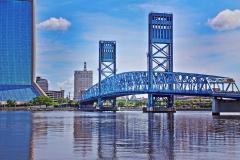 Main Street Bridge and Wells Fargo Building from Frienship Park, Jacksonville, Florida