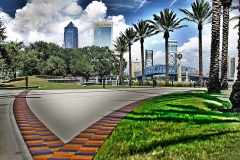 Downtown Jacksonville from Friendship Park