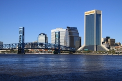 Southbank view towards Main Street Bridge and Downtown Jacksonville