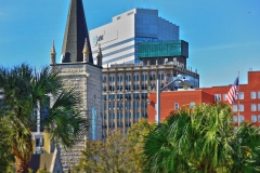 Layered skyline of Downtown Jacksonville