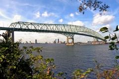 Hart Bridge crossing St. John's River into Downtown Jacksonville