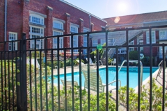 Gated pool area at The Lofts San Marco