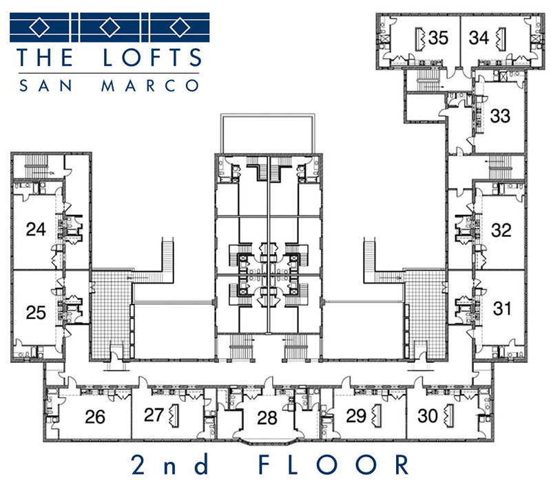2 floor layout at The Lofts San Marco